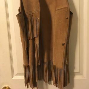 Jackets & Blazers - Vintage suede fringe vest